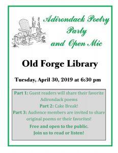 Adirondack Poetry Party