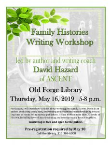 Family Histories Workshop with David Hazard