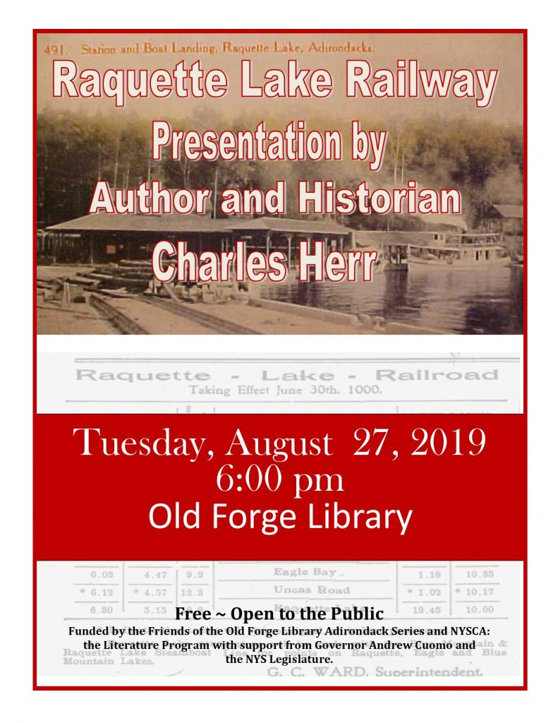 Raquette Lake Railway System with Local Historian and Author Charles Herr