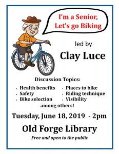 I'm a Senior, Let's Go Biking Seminar with Clay Luce
