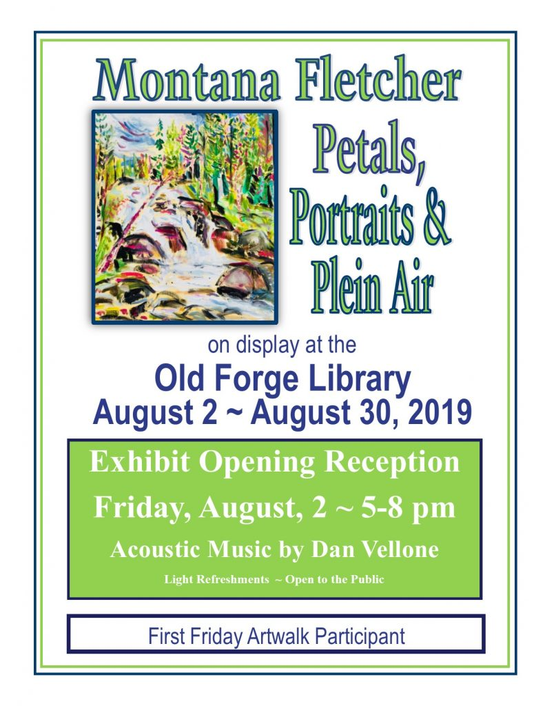 """Petals, Pastels and Plein Air""  Montana Fletcher Solo Exhibit ~ First Friday Artwalk Opening Reception"
