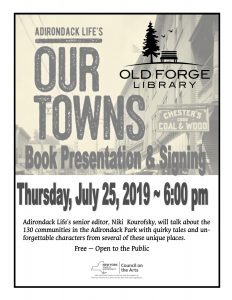 "Adirondack Life's ""Our Towns"" Book Presentation with Niki Kourofsky"