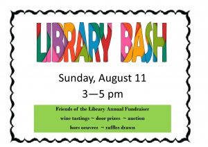 Friends of the Library Bash, Fundraiser