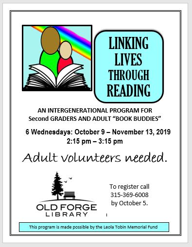 Fall Linking Lives Through Reading Sessions