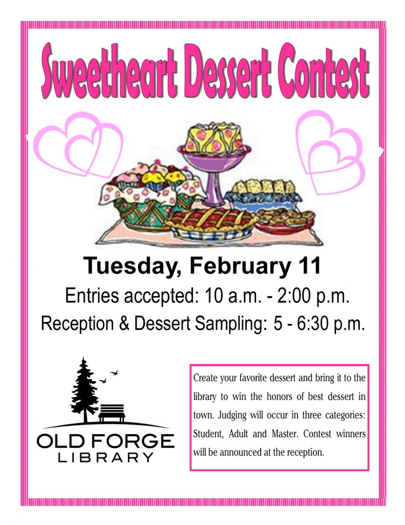 Sweetheart Dessert Contest Entries Accepted
