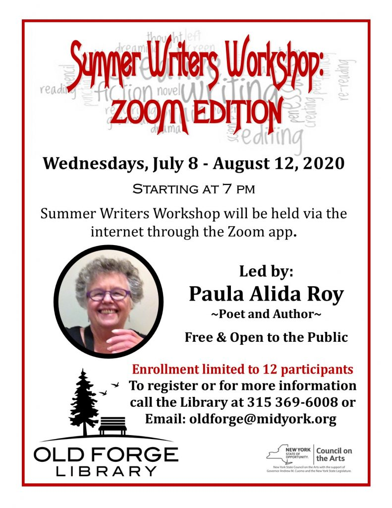 Summer Writers Workshop: Zoom Edition!