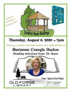 Outdoor Reading Series: Marianne Crangle Hudon