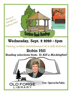 Outdoor Reading Series: Robin Hill reading from To Kill a Mockingbird