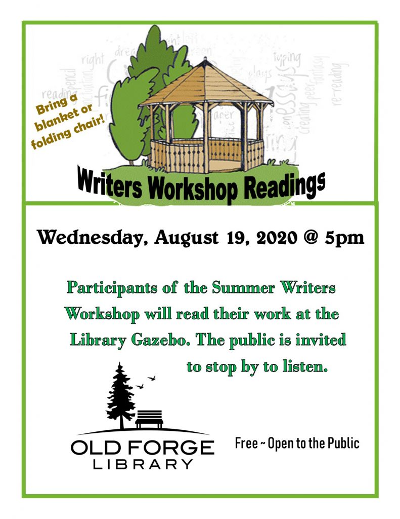 Writers Workshop Participants Readings in the Gazebo