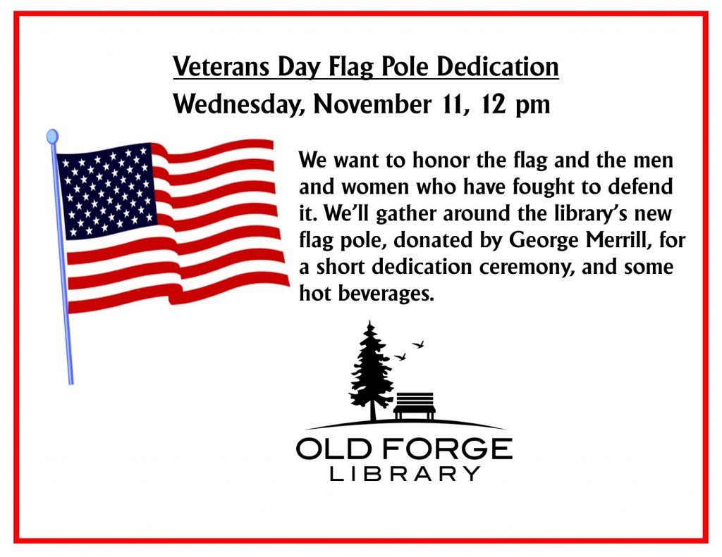 Veterans Day Flag Pole Dedication