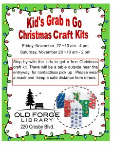 Kid's Grab n Go Craft Kits  ~ Outside pick-up