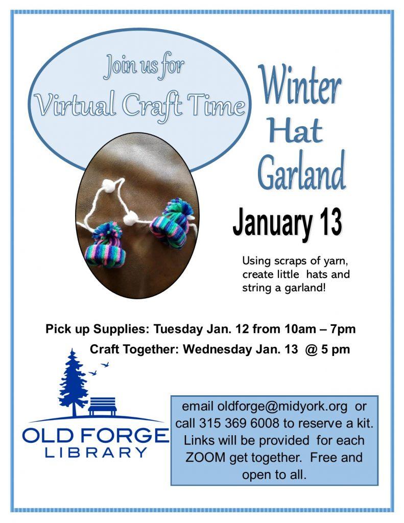 Virtual Craft Get Together ~ Winter Hat Garland