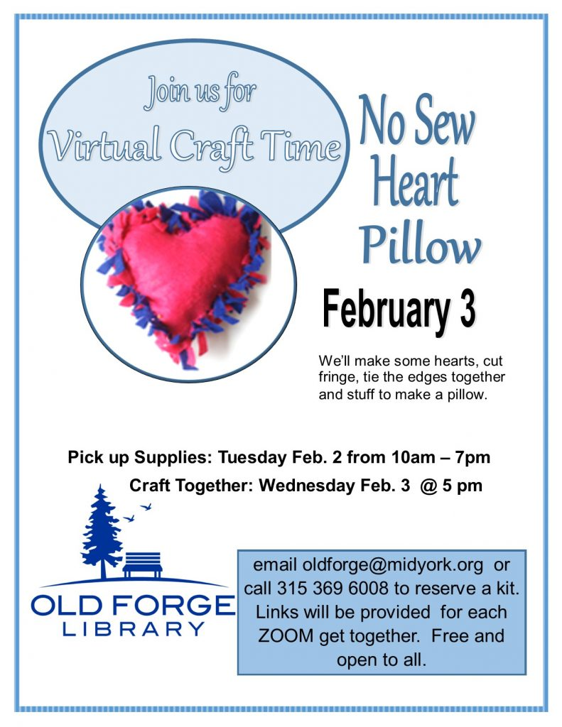 Virtual Craft Get Together ~ No Sew Heart Pillow