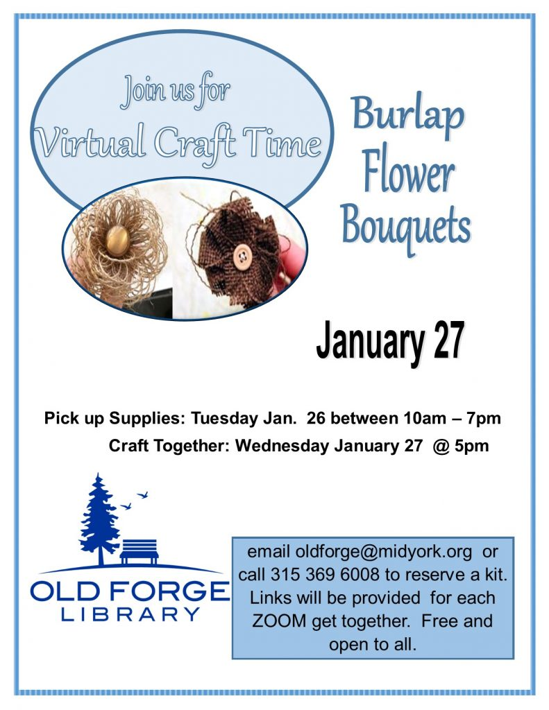 Virtual Craft Get Together ~ Burlap Flower Bouquets