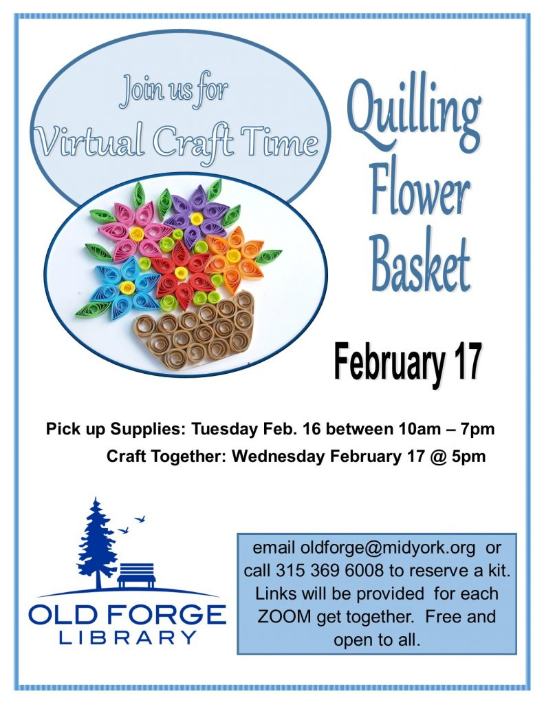 Virtual Craft Get Together ~ Quilling Flower Basket