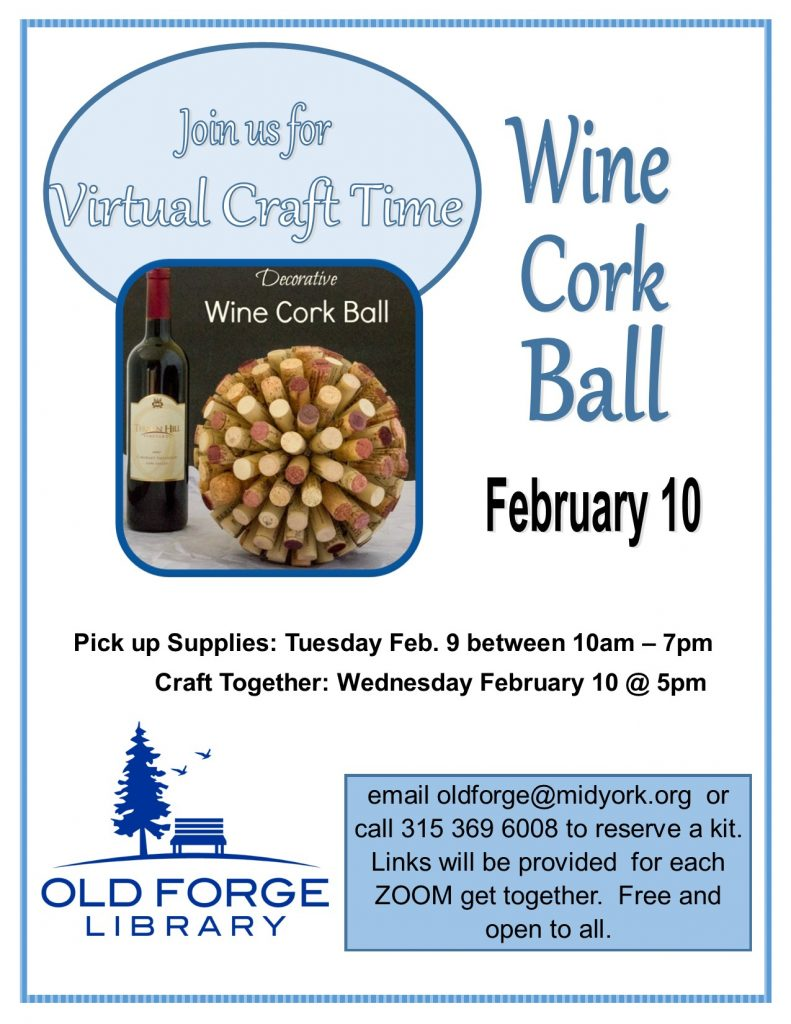 Virtual Craft Get Together ~ Wine Cork Ball