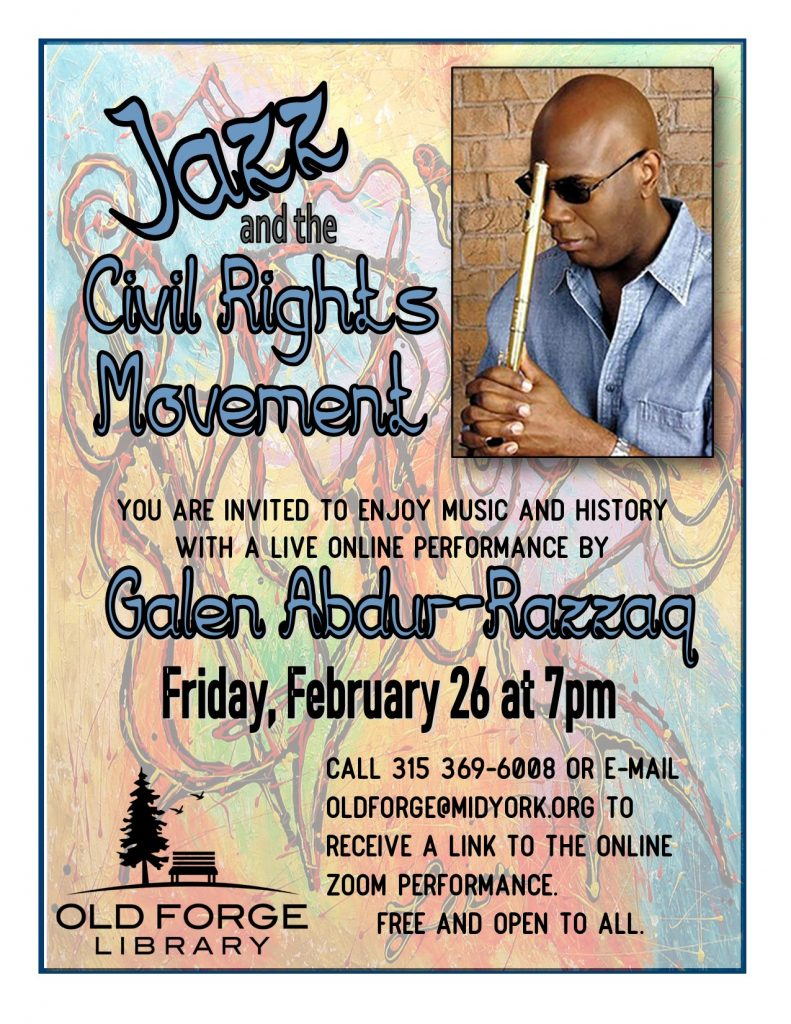 Jazz and the Civil Rights Movement online live performance with Galen Abdur-Razzaq