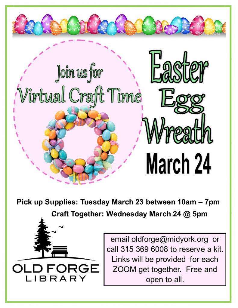 Virtual Craft Get Together ~ Easter Egg Wreath