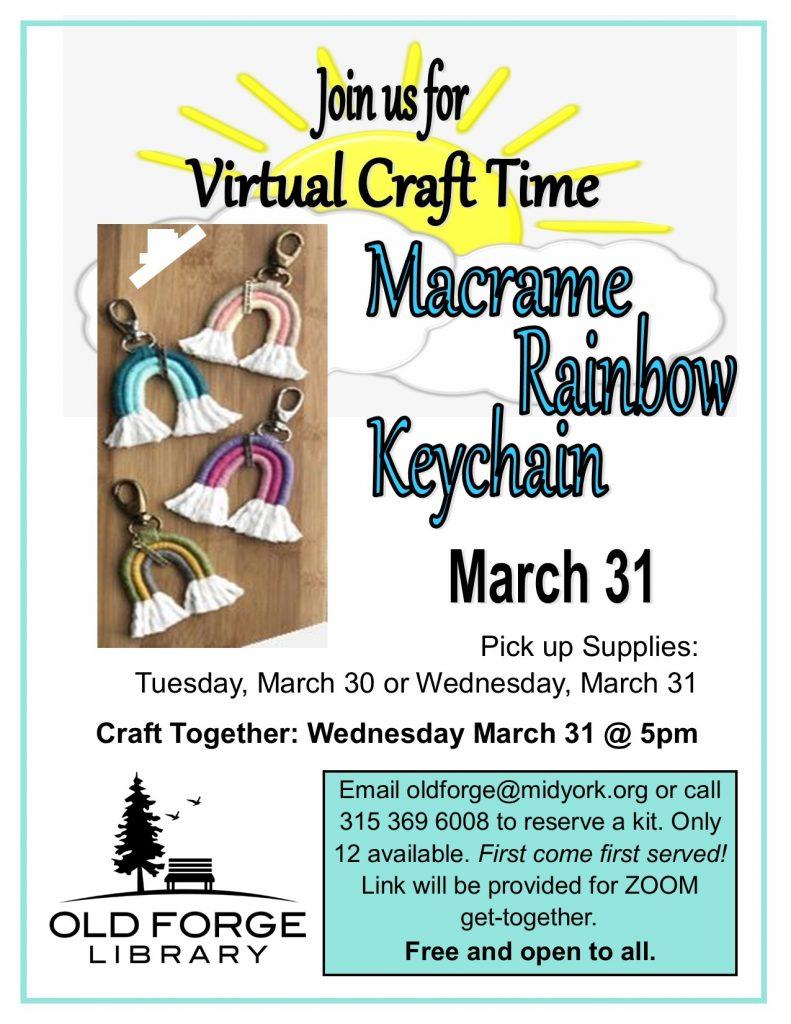 Virtual Craft Get Together ~ Macramé Rainbow Keychain
