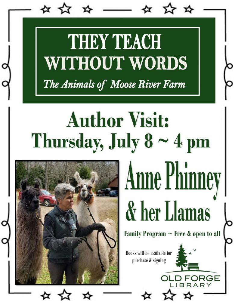 """Author's Visit ~ Anne Phinney and her Llamas ~ """"They Teach Without Words"""""""