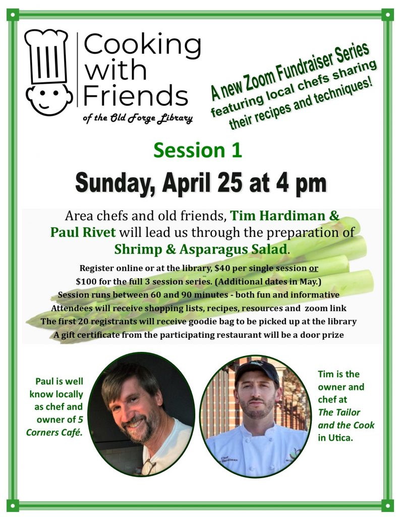 Cooking with Friends Fundraiser ~ ZOOM Series Session1