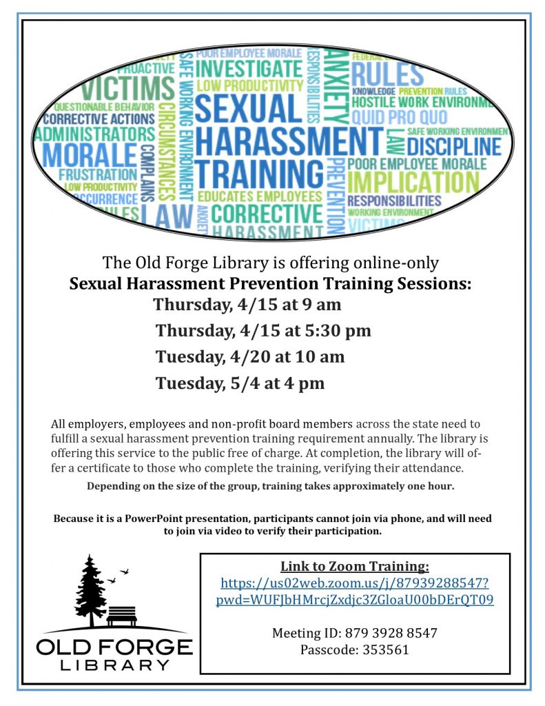 Sexual Harassment Prevention Training - On Zoom
