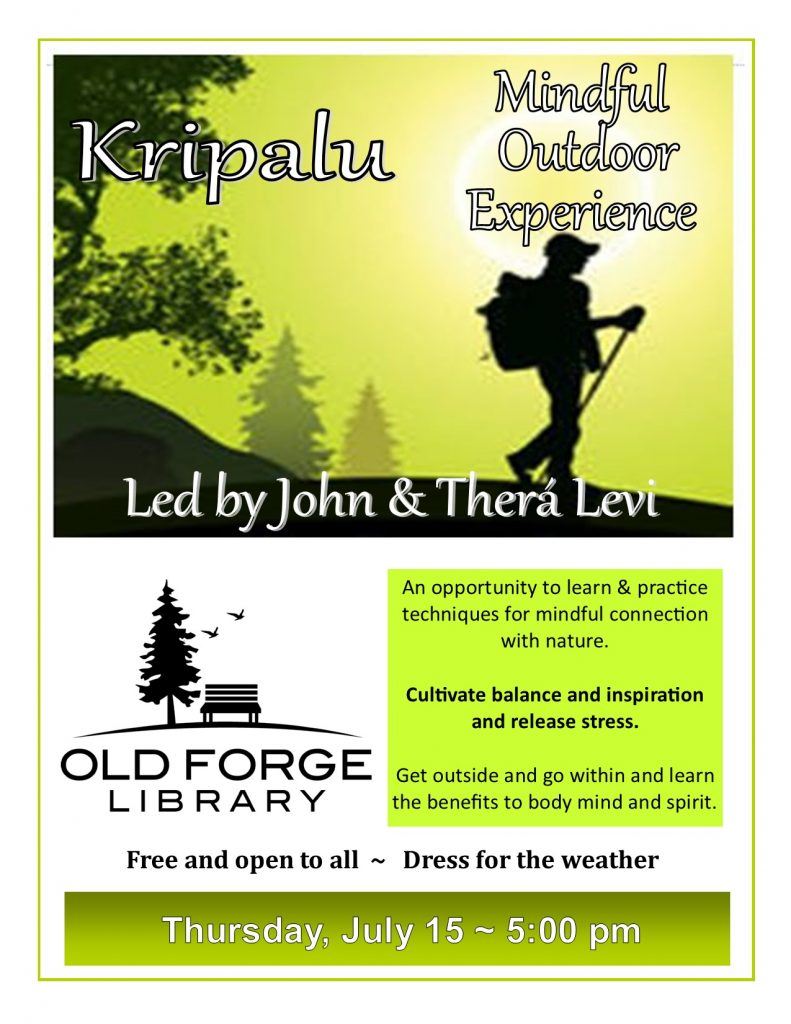 Kripalu Mindful Outdoor Experience led by Mystic Mountain Guides