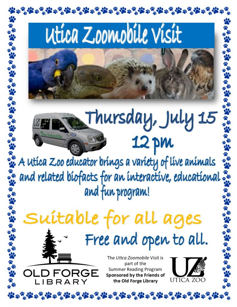 Utica Zoomobile at the library!