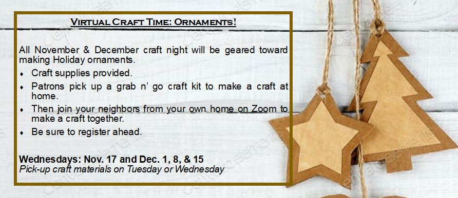Virtual Craft Time: Ornaments!